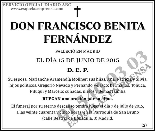 Francisco Benita Fernández